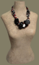 Bakelite Button Beaded Necklace