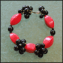 Red Lucite Beads Bracelet