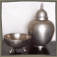 Metal Bowls and Lidded Container